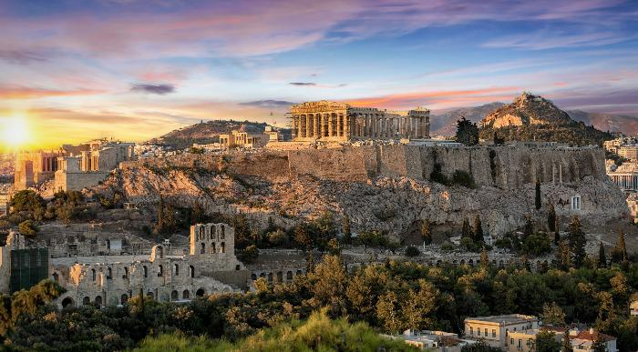 Grčija Atene-pogled na Partenon