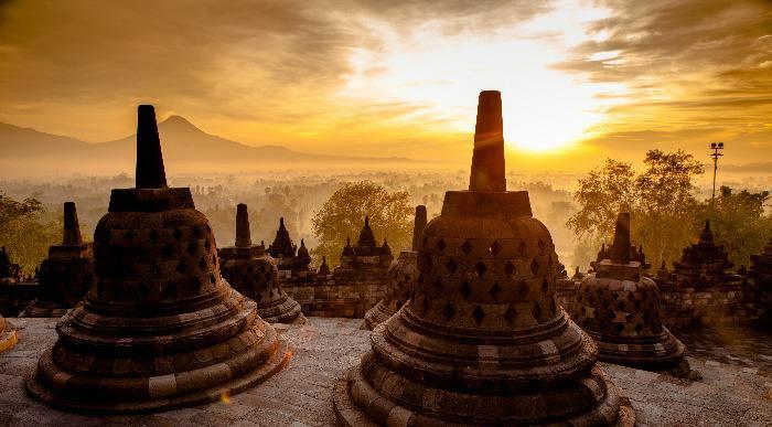 Indonezija-Java, tempelj Borobudur