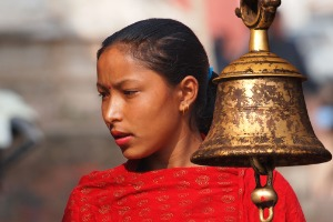 Nepal - Katmandu - mlado dekle