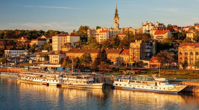 Srbija – Beograd – Panorama cez reko