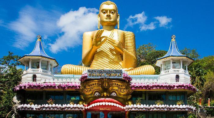 Šrilanka-Dambulla-zlati tempelj