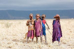 Tanzanija, masajski otroci