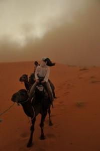 Maroška puščava v vetru
