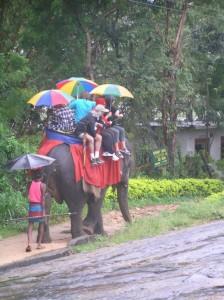 Šrilanka-pisani dežnik