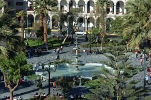 Glavni trg v Arequipi. Za mnoge najlepši trg v celi Južni Ameriki