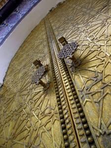 Maroko-Fez-Brončena vrata kraljeve palače