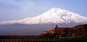 Armenija in Ararat v ozadju