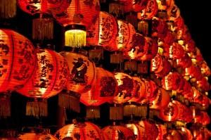 Kitajska-rdeči lampijoni