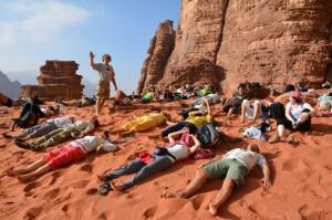 Jordanija - Ležanje na mivki