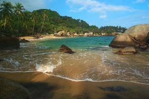 Kolumbija-Tayrona-plaža