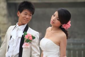 Kitajska-Ženin in nevesta
