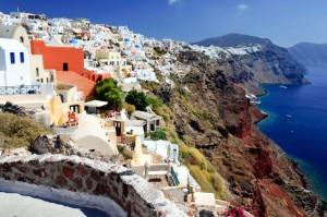 Grčija-Santorini, vasica Thira