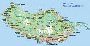 Zemljevid Madeira