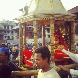 Nepal-Živa boginja Kumari Devi