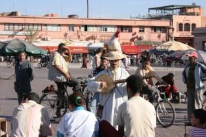 Maroko-Marakeš, ulični nastopači