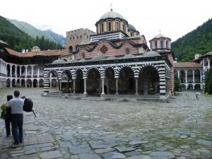 Samostan Rila, notranje dvorišče