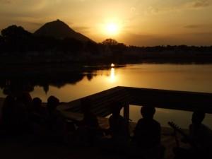 Indija - Sončni zahod v Puškarju