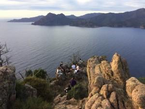 nad zalivom Porta 1 300x225 - Atraktivna Korzika – vzpon na Capo d'Orto
