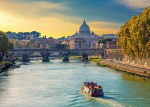 Italija-Rim-pogled na baziliko Svetega Petra