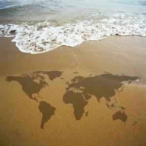 Zemljevid na pesku