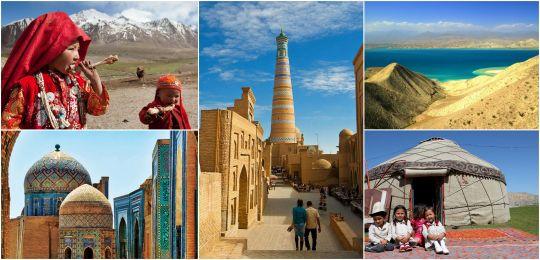 kolaz2 - Osrednja Azija - Po lepotah starodavnih trgovskih poti