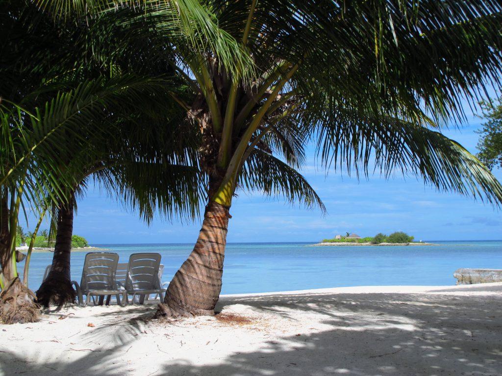 Maldivi - pogled iz plaže