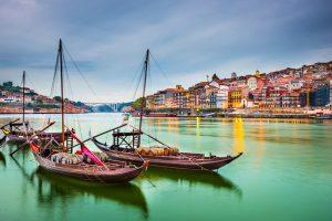 Portugalska, čolni Rabelo na reki Duoro