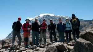 Tanzanija-Kilimanjaro-skupinska pod vrhom