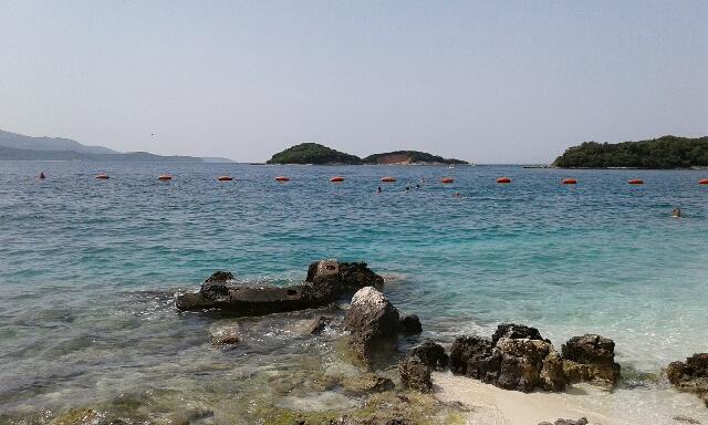 Albanija - plaža Ksamil